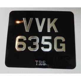 Vintage Number Plate Die Pressed Aluminium Stove Enamelled With Your Logo