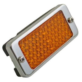 Clasic Motorcycle Lucas RER22 Amber / Chrome Oil Cooler Reflector for Triumph & BSA