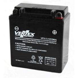 Classic 12V Motorcycle Battery Vertex VP3-3 Gel Battery Dry Cell Replaces CB3L-A