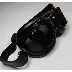 Classic Aviator Motorcycle & Scooter Googles With Tinted Anti-Fog Lenses