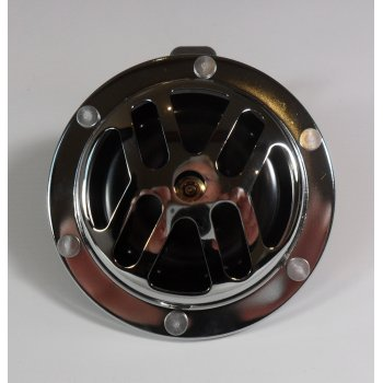 Classic Motorcycle 12V Chrome Horn 100mm Diameter With Fixing Bracket