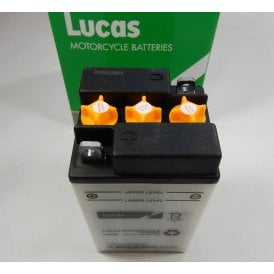 Classic Motorcycle 6v Battery B49-6 Genuine Lucas Battery With Electrode LB496