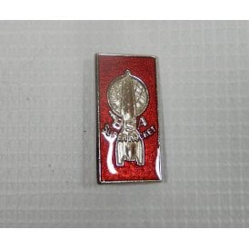 Classic Motorcycle BSA Super Rocket Pin Badge Finished in Chrome & Red Enamel