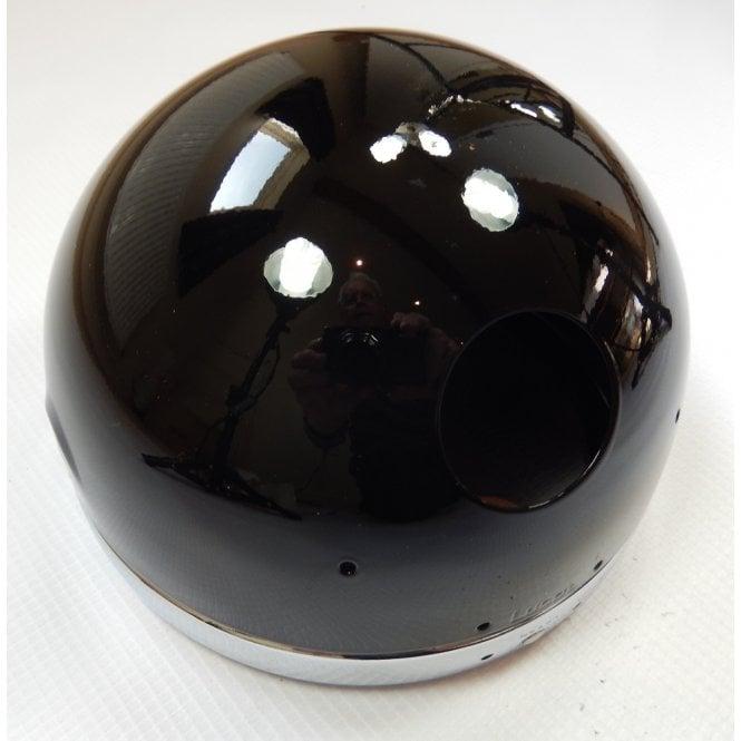 "Classic Motorcycle Genuine Lucas Gloss Black Headlamp shell and Chrome Rim 5 3/4"""