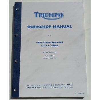 Triumph Classic Motorcycle Genuine 6T, TR6 Trophy, T120 Workshop Manual OEM No 99-0883