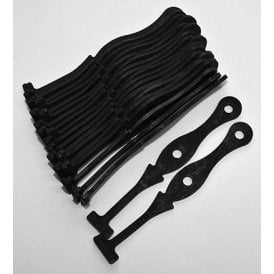 "Classic Motorcycle John Bull Rubber Cable Ties 4 1/4"" Long OEM No 60-0978"