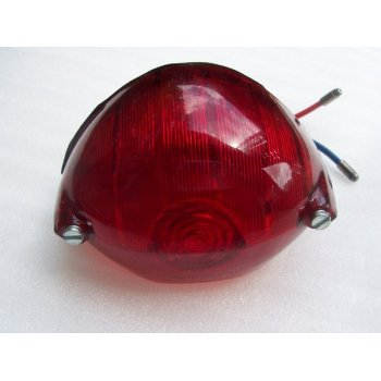 LUCAS Classic Motorcycle 529 Rear Lamp Complete With Bulb Twin Filament