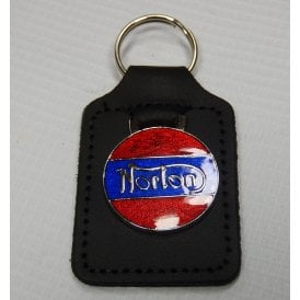 Classic Motorcycle Norton Leather Backed Key Fob & Logo For Classic Motorcycle