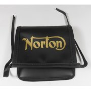 Classic Motorcycle Norton Tool Bag With Logo Synthetic Leather Finish