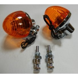 Classic Motorcycle Rear Indicator Set Honda C50, C70, C90 Models 1975 - 1985