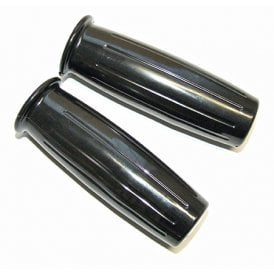 "Classic Motorcycle Replacement 1"" Amal Type 366 Black Handlebar Grips (Sold as a Pair)"