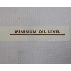 Classic Motorcycle Triumph, BSA Classic Motorcycle Transfer 'Minimum Oil Level'
