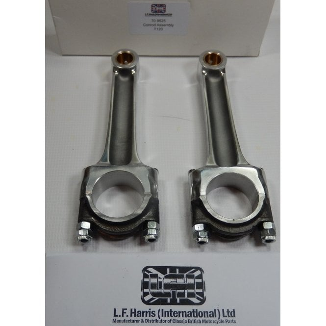 Triumph Classic Motorcycle T120 Conrod Set (Pair) Made in England OEM No 70-9525