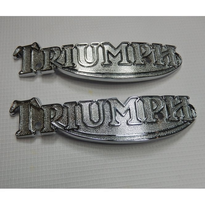 Triumph Classic Motorcycle T140, T160 Tank Badges (Pair) OEM No 83-5361, 60-7120