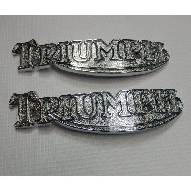Triumph Classic Motorcycle T140, T160 Tank Badges (Pair) OEM No 83-5361, 60-7120