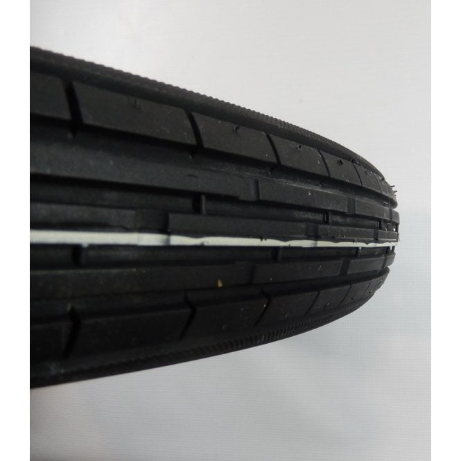 """Classic Motorcycle Tubed Tyre Front Ribbed 3.25 x 19"""" & Rear 6 Ply Rating DOT E8"""