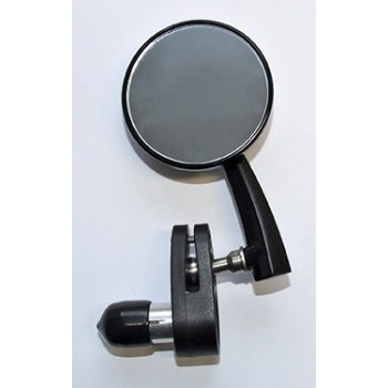 "Classic Retro style Black 3"" Bar End round Mirror Right Hand"