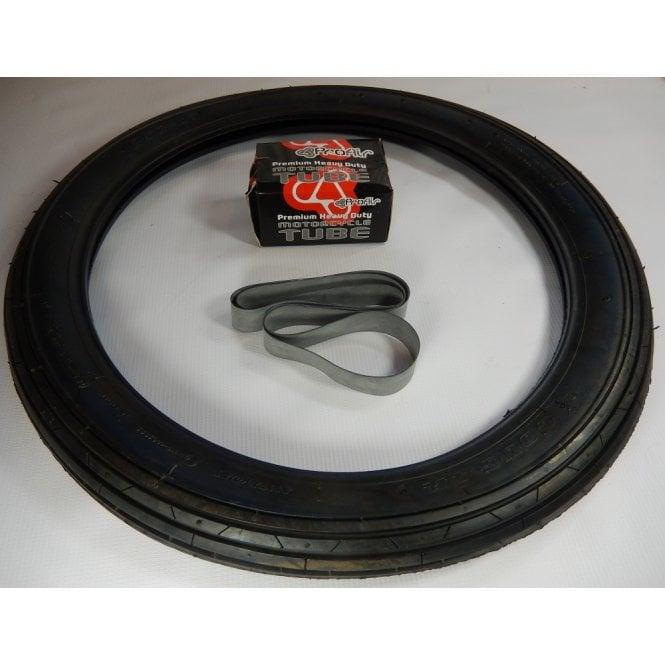 Honda Classic Ribbed Front Tyre & Inner Tube Set For C50, C70, C90, Size 275-17