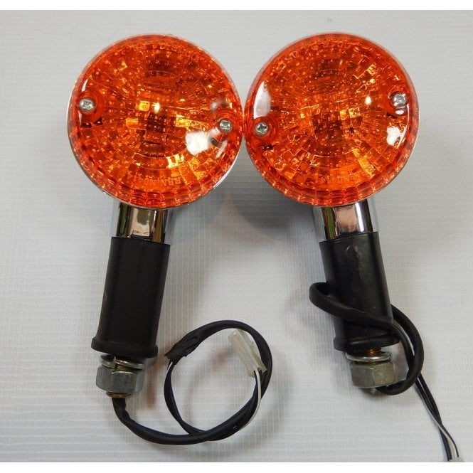 Royal Enfield Classic 350, 500cc Indicators Sold as A Pair Chrome Finish (Pair)