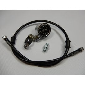Classic Triumph / BSA Oil Pressure Gauge Kit Includes Gauge 0-100PSI, Pipe & All Fittings