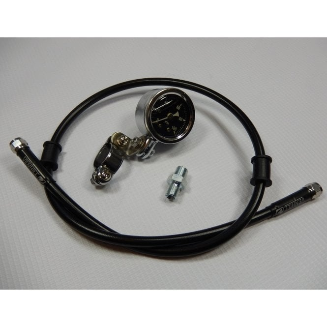 Classic Triumph / BSA Oil Pressure Gauge Kit Includes Gauge 0-100PSI, Pipe & All Fittings