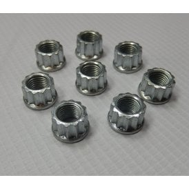 "Classic Triumph T120 / T140 & BSA A65 Cylinder Base Nut Set of 8 3/8"" UNF"