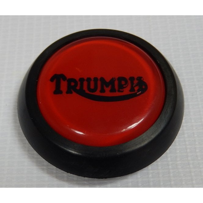 Triumph Classic Tank Centre Grommet Badge Red Complete With Rubber