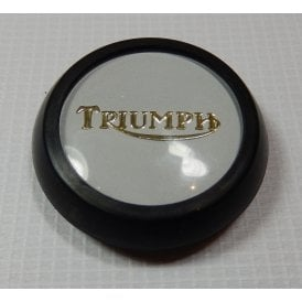 Classic Triumph Tank Centre Grommet Badge Silver & Gold Complete With Rubber