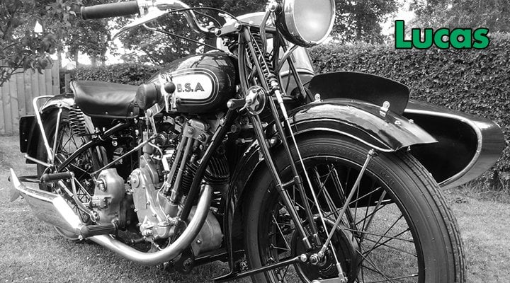 BSA motorbike with lucas parts