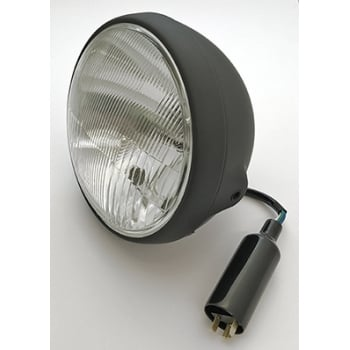 """Complete 7"""" Universal Headlight Assembly Ideal For Classic Bikes & Cafe Racers"""