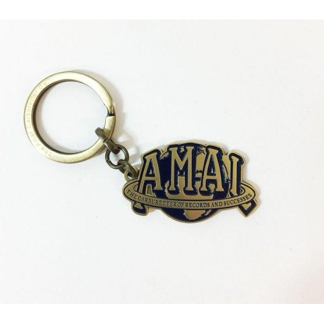 AMAL Genuine Key Ring Made in England Enamel Logo