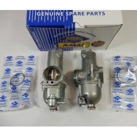 Genuine AMAL Standard Twin Carburettor Set for BSA A65 Lightening Made in UK