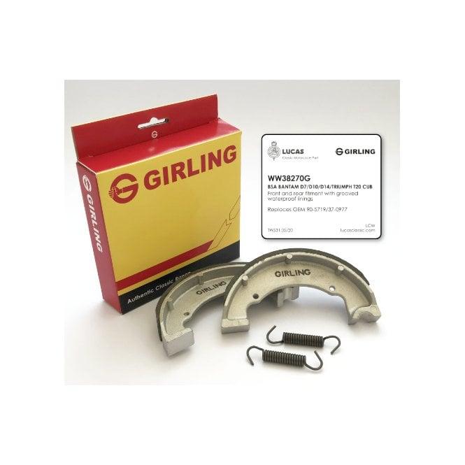 Girling Genuine Brake Shoes BSA Bantam & Triumph Tiger Cub Models