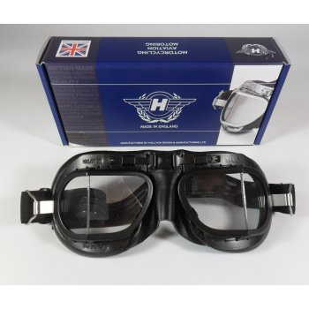 HALCYON Genuine Racing Goggles Black Frames Mark 8 Racing
