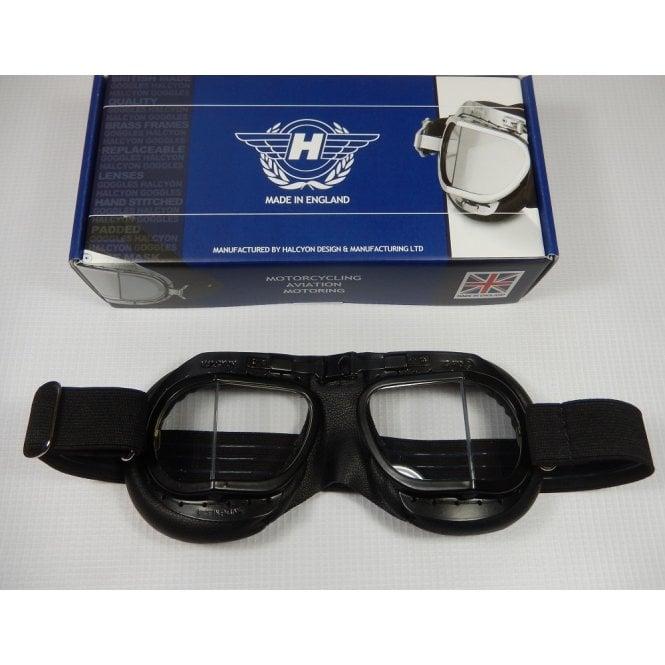 Halcyon Genuine Racing Goggles Black Frames Mark 8 Racing