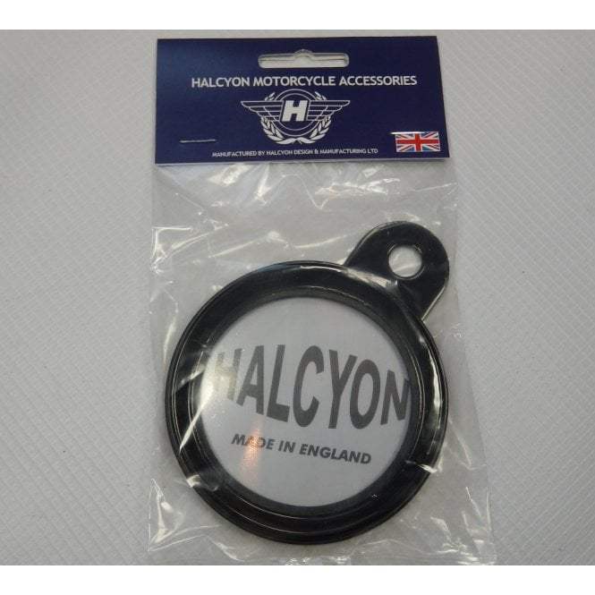 HALCYON Genuine Tax Disc Holder Black Made in England