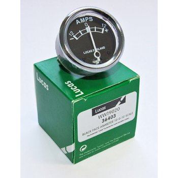 LUCAS Genuine Ammeter 36403 For 12V Systems