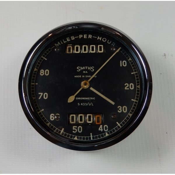 SMITHS INSTRUMENTS Genuine Smiths Motorcycle Speedometer 0-80 MPH Fully  Refurbished With New Bulb Holder
