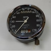 Genuine Smiths Vintage Speedometer Fully Refurbished With Trip 0-120MPH Immaculate
