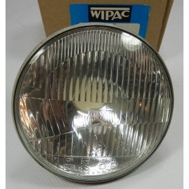 "Genuine Wipac Headlamp Beam Unit Set 7"" Includes all Bulbs 6V Bulb & Holders"