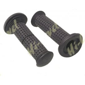 "Grips Black Traditional Style Sold As A Pair 115mm Long Fit 7/8"" Handlebars"