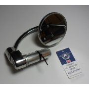 Halcyon 835 Bar End Mirror Stainless Steel Compact Head