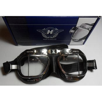 HALCYON Goggles Soft Black & Chrome Finish Mark 8 Deluxe