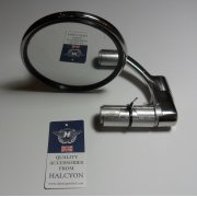 Halcyon Round Bar End Mirror Stainless steel