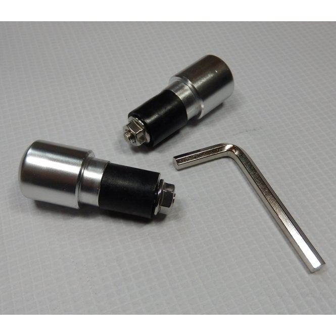 Handlebar Ends for Classic Motorcycles Polished Alloy Finish For 22mm Bars