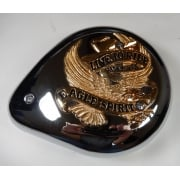 "Harley-Davidson Air Filter Complete Tear Drop Gold Banner ""Live to Ride"""