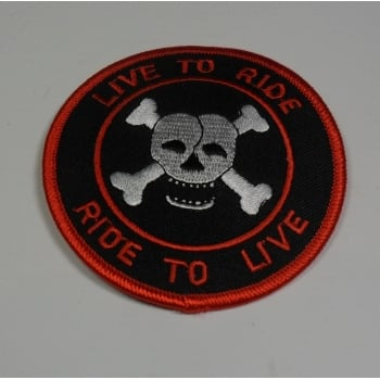 Harley-Davidson Live to Ride Cloth Sew on Badge Made in UK
