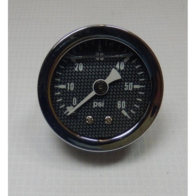 Harley-Davidson Oil Pressure Gauge Kit Includes Gauge 0-60PSI, Pipe & All Fittings