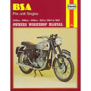 Haynes Manual BSA 1954-1961 Pre Unit Singles
