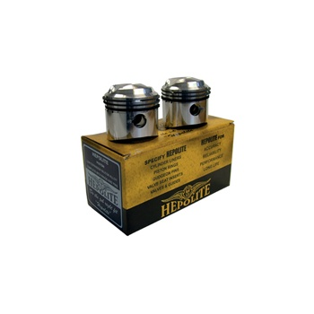 HEPOLITE Pair of Pistons for BSA A65 650cc models etc (1962-73)
